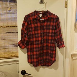 J. Crew Boy Fit flannel shirt
